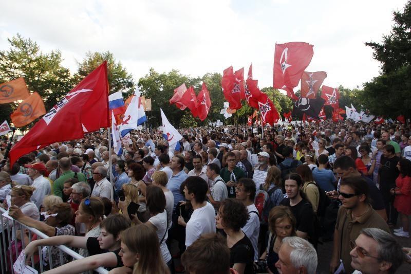 Maskvoje keli tūkstančiai demonstrantų protestavo prieš V.Putiną