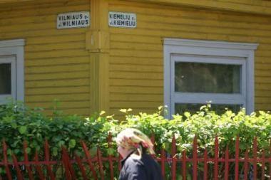 Lenkiški gatvių pavadinimai vis dar kabo