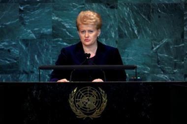 JT renginyje Niujorke D.Grybauskaitė trumpai susitiko su B.Obama