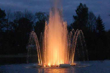Veisiejuose fontanas groja ir J.Štrauso valsus