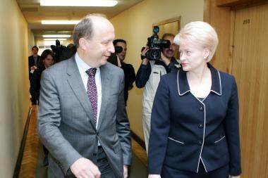 Prezidentės ir premjero susitikime bus kalbama apie V.Ušacką