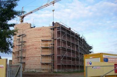 Įpusėjo naujos bažnyčios statyba