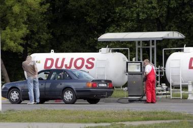 Vagims prireikė dujų kuro