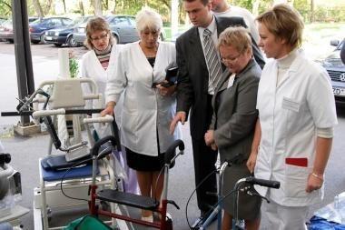Vilkpėdės slaugos ligoninė sulaukė naujos medicininės įrangos