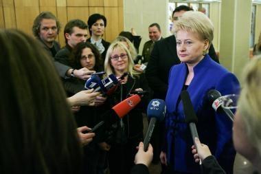NATO privalo išlikti realia saugumo garantija, sako D.Grybauskaitė