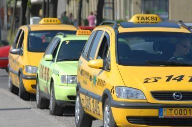 Siautėjo taksi keleivis