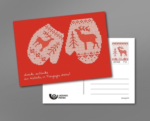 Pašto skyriuose pasirodė specialūs kalėdiniai atvirlaiškiai