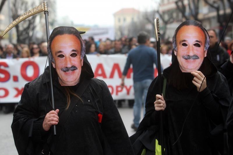 Graikijoje - protestai prieš kanadiečių aukso paieškas