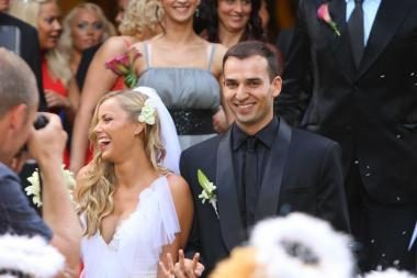 Ketvirtųjų santuokos metinių proga G. Alijeva atvirai išpažino meilę savo vyrui Rolandui