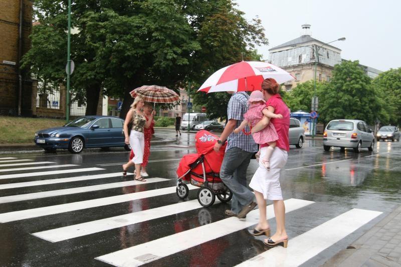 Savaitgalį lietaus Klaipėdoje išvengti nepavyks