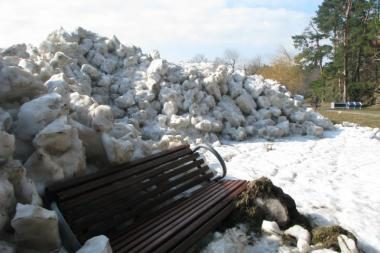 Ties Nida – kelių metrų aukščio ledų sangrūdos