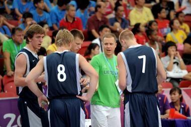 Lietuvos trijulė pralaimėjo, bet žais jaunimo olimpinių žaidynių ketvirtfinalyje
