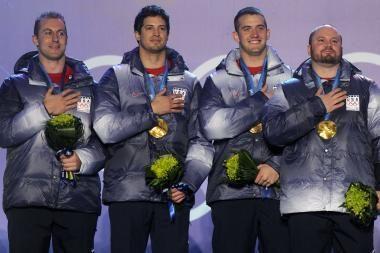 Amerikiečiai po 62 metų tapo olimpiniais čempionais bobslėjaus varžybose