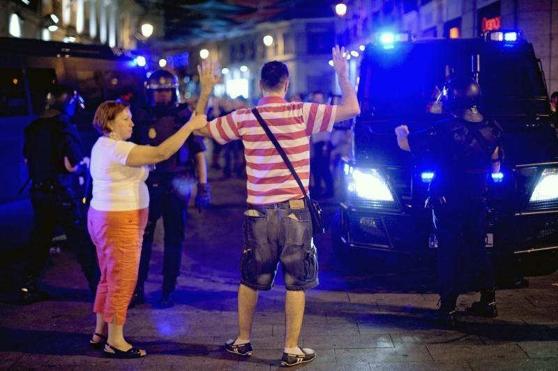 Ispanijoje ir Portugalijoje vyko masiniai protestai prieš taupymą