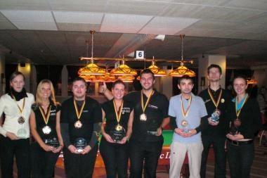 Amerikietiškojo biliardo čempionato medalius dalijosi ir vyrai