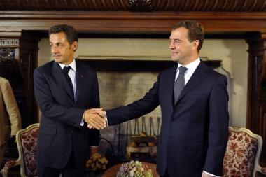 N.Sarkozy ir D.Medvedevas rado bendrą kalbą