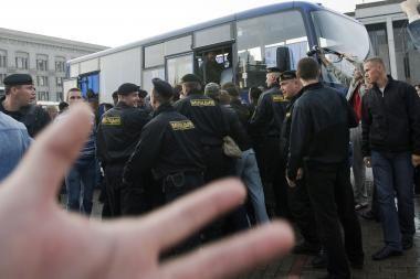Baltarusijos milicija buvo areštavusi apie 50 lenkų