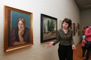 Septyni P.Domšaičio paveikslai parduoti aukcione PAR