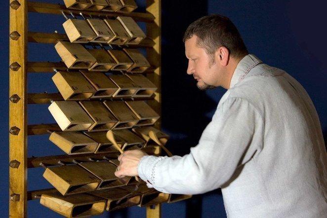 Unikalaus instrumento - skrabalų - maestro R.Šilinskas pristato albumą