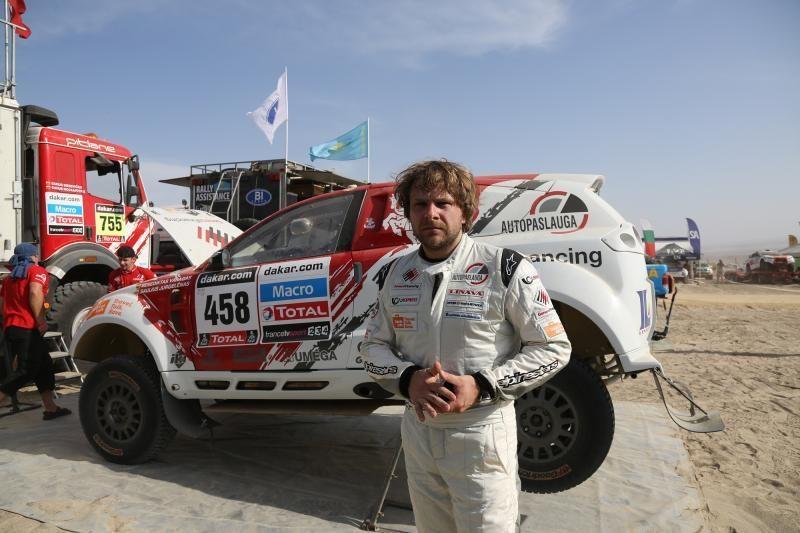 B. Vanagas pirmajame Dakaro ralio greičio ruože - 17-as