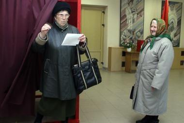 Daugumoje Lietuvoje balsavusių baltarusių parėmė A.Lukašenką
