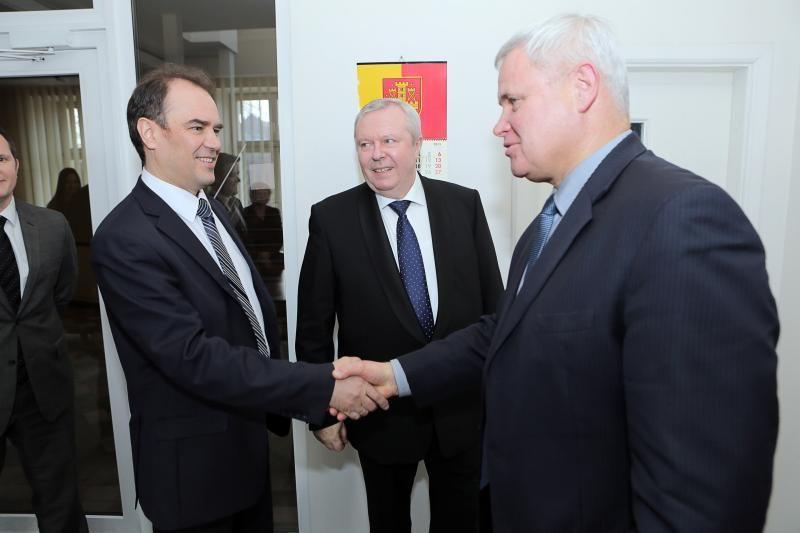 Klaipėdos meras priėmė Kalugos miesto atstovus