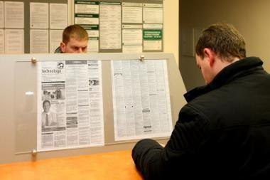 Darbo biržoje per savaitę - beveik 900 naujų bedarbių