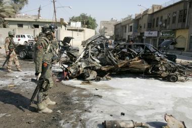 Sprogimai Bagdade reikalauja vis daugiau gyvybių