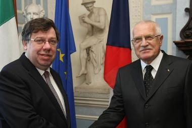 Airijos valdžiai - Čekijos lyderio akibrokštas