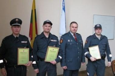 Išrinkti geriausi patruliai ir apylinkės inspektorius