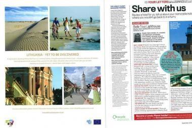 """Lietuva - """"Lonely Planet"""" kelionių žurnaluose"""