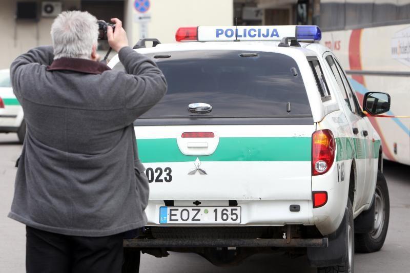 Į avariją pateko Panevėžio policininkas