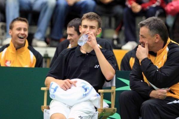 R.Berankis ir L.Grigelis surems teniso raketes