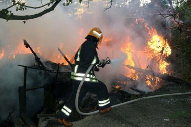 Sudegė sodo namelis