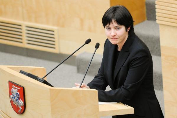 Seimo vicepirmininkė: E.Žiobienę dirbti palikęs Seimas parodė jai pasitikėjimą