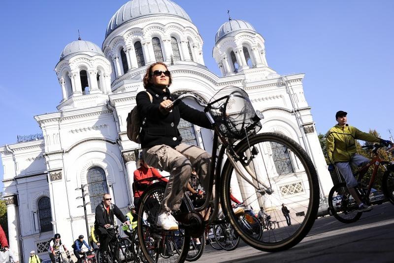 Kauno valdžia skatins miestiečius dažniau sėsti ant dviračio