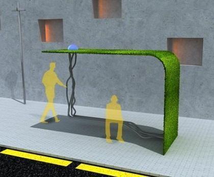 Miesto pilkumą keičia žaliuojančios autobusų stotelės