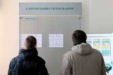 Nedarbas Vilniuje - 12,3 proc., Klaipėdoje - 11,6 proc.