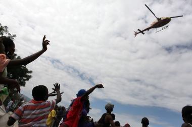 Haityje protestuojama dėl