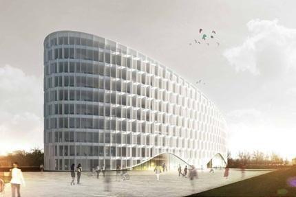 Projektuojamas naujas biurų kompleksas Konstitucijos prospekte