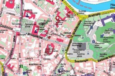 Londono parodoje populiariausi Vilniaus ir Kauno žemėlapiai