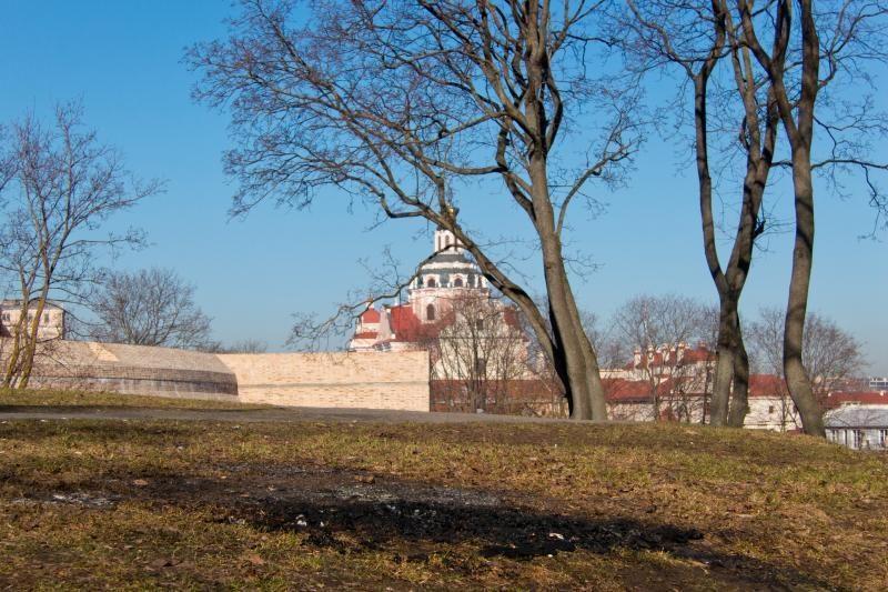 Vilniaus senamiestyje pirmadienio rytą susidegino žmogus