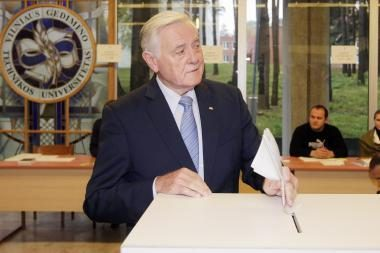 Šalies vadovai balsavo Vilniuje