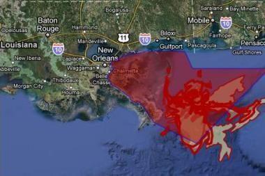 """Naftos dėmė Meksikos įlankoje – per """"Google Earth"""""""