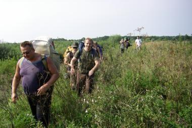 KU pirmakursiai dalyvavo turistiniame žygyje