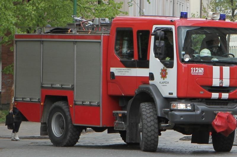 Penktadienio vakare Klaipėdos gamykloje kilo gaisras
