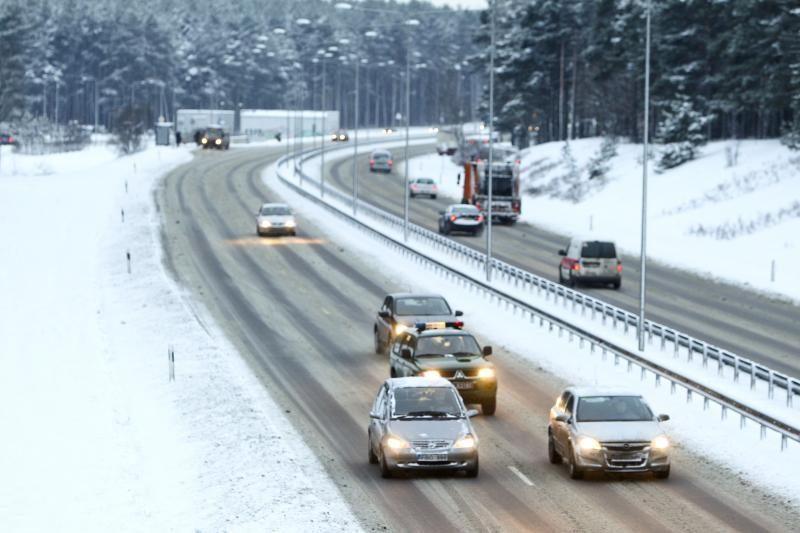 Kauno ir Marijampolės rajonuose yra slidžių kelių