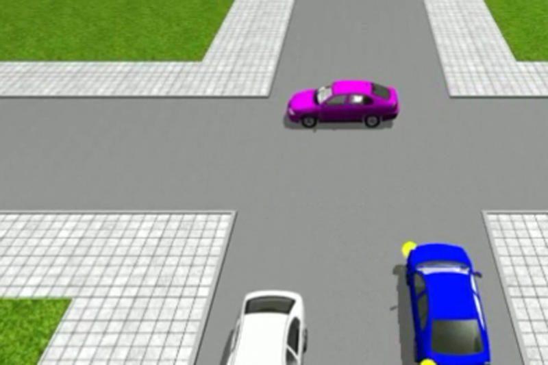 Sukurta animacinė eismo situacijų sistema