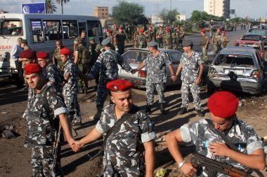 Tripolyje susprogdintas autobusas su kareiviais