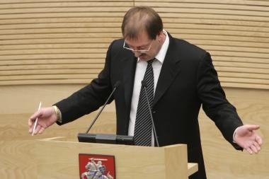 Parlamentarus leista patraukti baudžiamojon atsakomybėn